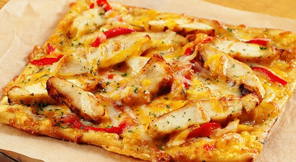 Chicken veggie flatbread